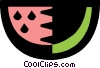 Vector Clipart illustration  of a watermelon