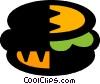 Vector Clip Art picture  of a hamburger
