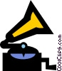 record player Vector Clip Art picture