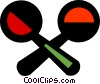 Vector Clipart graphic  of a maracas