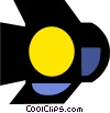 Vector Clipart picture  of a movie light