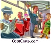 people using public transportation Vector Clipart image