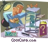 Vector Clip Art picture  of a Computer technician