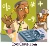 Vector Clipart image  of an African American accountant