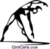 Vector Clip Art image  of a woman stretching