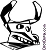 Vector Clipart illustration  of a cow skull
