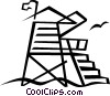 lifeguard tower Vector Clipart illustration
