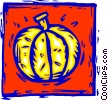Vector Clip Art graphic  of a pumpkin