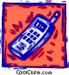 Vector Clipart image  of a cell phones