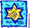 Vector Clipart illustration  of a star of David