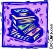 Vector Clipart illustration  of a stack of books