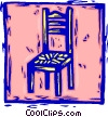 kitchen chair Vector Clip Art picture