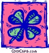 four-leaf clover Vector Clipart graphic