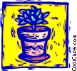 Vector Clip Art picture  of a potted house plant