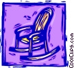 Vector Clipart graphic  of a wooden rocking chair