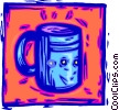 Vector Clipart graphic  of a coffee cup