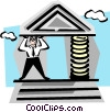 Vector Clip Art graphic  of a financial institutions