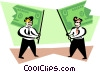 Vector Clipart image  of a flags made from dollar bills