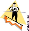 Vector Clipart graphic  of a businessman walking on a