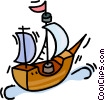 tall ship Vector Clipart illustration