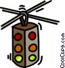 Vector Clipart graphic  of a traffic signals