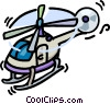 Vector Clip Art graphic  of a helicopters