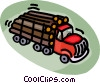 logging trucks Vector Clip Art picture