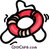 Vector Clip Art picture  of a life rings