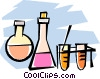 Vector Clip Art image  of a science beakers