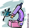 microscope Vector Clipart illustration