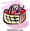 Vector Clipart picture  of a fruit baskets