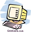 Vector Clip Art graphic  of a home/office computer