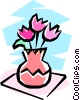 vase with flowers Vector Clip Art picture