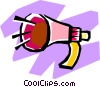 megaphones Vector Clipart illustration