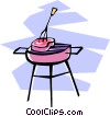 steaks on the grill Vector Clipart graphic