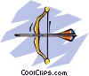 Vector Clipart graphic  of a bows and arrows
