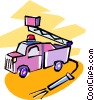 fire trucks Vector Clip Art picture