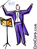 Vector Clip Art image  of a conductors