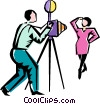 photo shoot Vector Clipart graphic