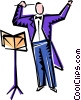 conductor Vector Clip Art picture