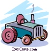 Vector Clipart graphic  of a tractor