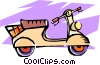 Vector Clip Art graphic  of a motor scooters