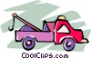 tow truck Vector Clip Art graphic