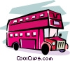 double decker bus Vector Clipart graphic