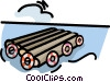 log raft Vector Clipart graphic