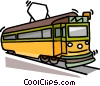 Vector Clip Art picture  of a streetcar