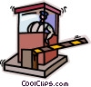 Vector Clipart graphic  of a security check point