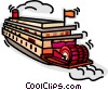 Vector Clip Art graphic  of a riverboat