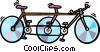 two seat bicycle Vector Clip Art image