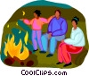 campfires Vector Clipart illustration